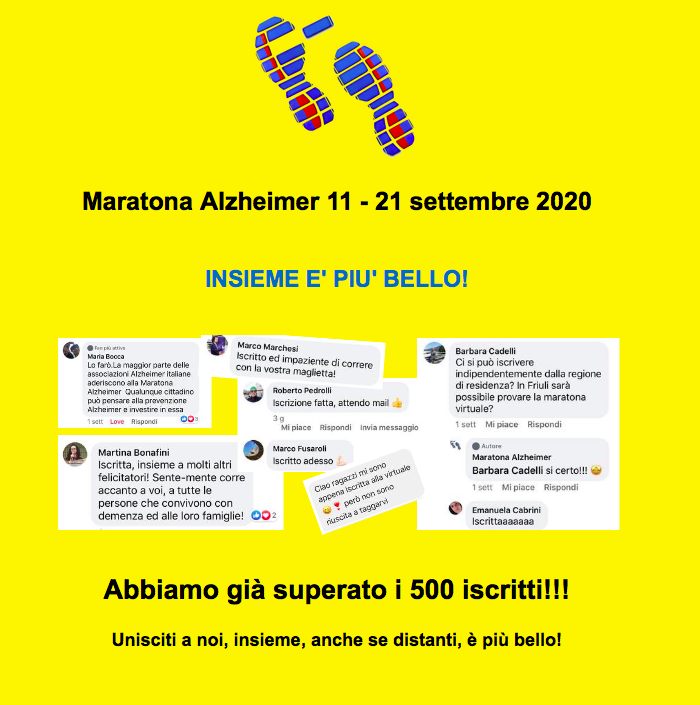 (Italiano) IRET partecipa alla Maratona Diffusa 2020 per sensibilizzare l'opinione pubblica sul tema dell'Alzheimer